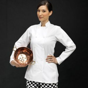 Women's long sleeve chef's jacket Thumbnail