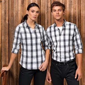 Ginmill check cotton long sleeve shirt Thumbnail