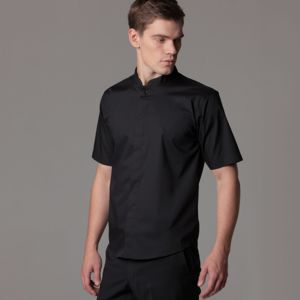 Bar shirt mandarin collar short sleeve Thumbnail