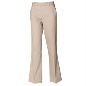Henbury Ladies Flat Fronted Chino Trousers Thumbnail